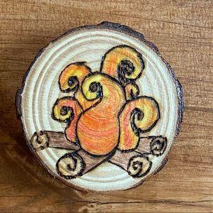 Campfire Magnet artisan wood burned